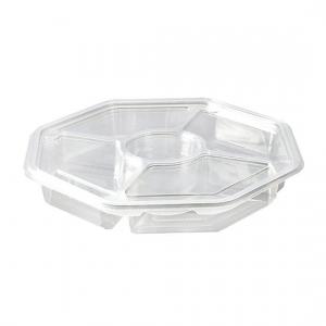 sekizgen 5 bölmeli plastik salata kabı